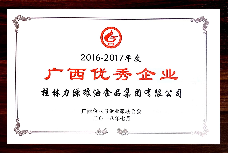 广西优秀企业2016-2017